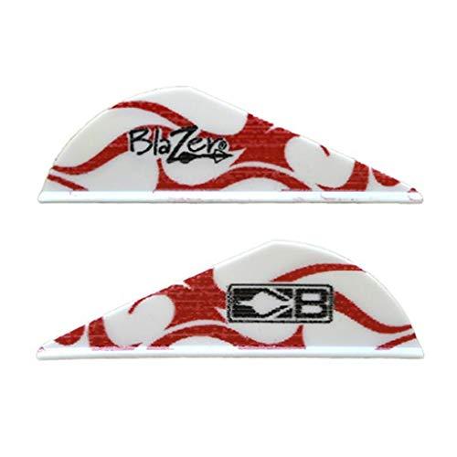 Bohning True Color 2' Blazer Vanes Red & White Flame Blazer Vane, 36pk