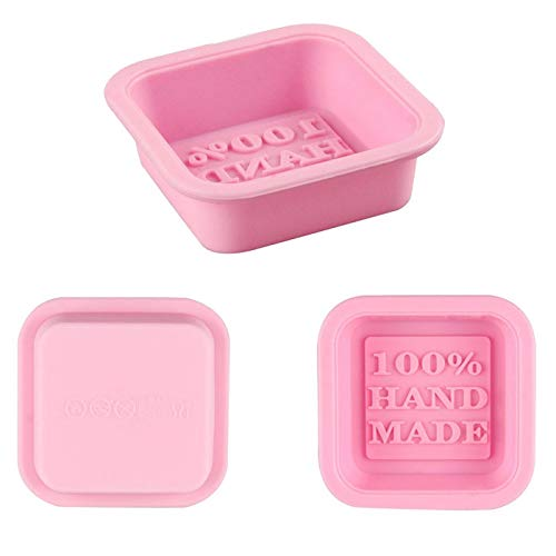GILIGEGE Rectangle Silicone Soap Molds for Baking Non-Stick Cake Mould Cake Pan Loaf Soap Mold Soap Cute Making Supplies for Handmade Soap Chocolate Jelly Pudding (Pink, Silicone Soap Molds(1pc))