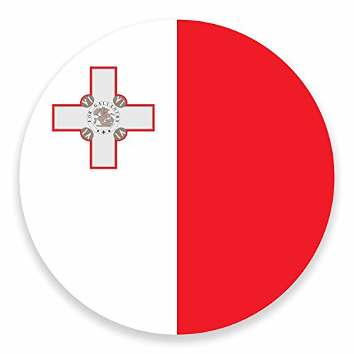 2 x 10cm Maltese Malta Flag Vinyl Sticker Laptop Car Luggage Travel Label #9519 (10cm Wide x 10cm High)