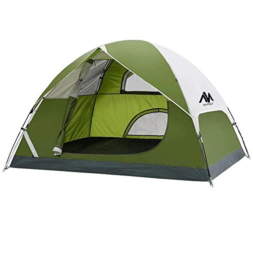 two man tents 2 Person Dome Tents for Camping, AYAMAYA Lightweight Compact Easy Setup Double Layer 3 Season 2 Man People Backpacking Tent with 3 Large Mesh Windows - Ideal for Hiking Fishing Motorcycle Bikepacking