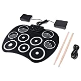 Electronic Drum Sets, Roll Up Drum Set 9 Sensitive Drum Pads with...