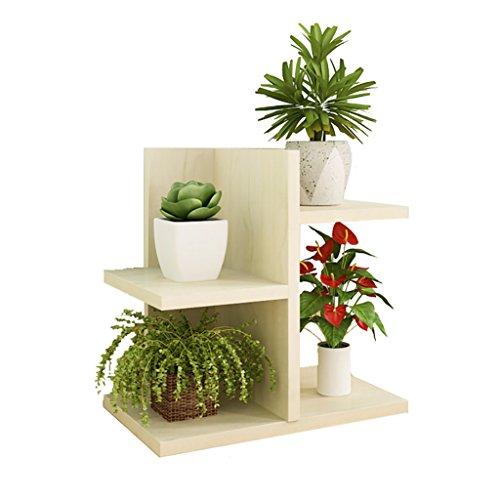 FZN Balcon Multi-Viande Rack Mini Bureau en Bois Minimaliste Moderne Creative Flower Rack Office Pots de Fleurs