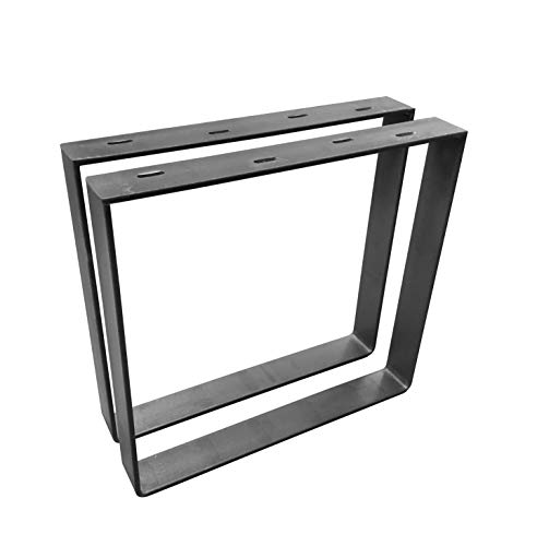 "2 Pack - (2"" Wide - 1/4"" Thick Metal) Square Metal Legs, Table Legs, Bench Legs, Legs, Industrial Modern, DIY"
