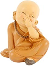 DAWEIF Chinese Hand-Carved Resin Buddha Statue Home Decor Small Monk Sculpture