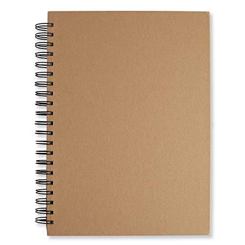 NOBRANDED Skizzenblock Sketch, A4-Skizzenbuch, Weißem Professionellem Zeichenpapier, Skizzenblock Glattes Papier Spiralbindung, Mal und Skizzenpapier zum Zeichnen 120 Seiten (60 Blatt)