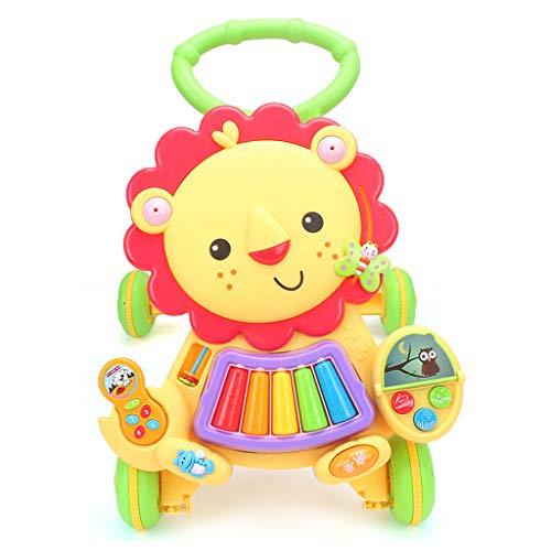 Baby Walker Trolley 7-18 Mois Baby Walker Jouet Réglable Vitesse Multi-Fonction Anti-Renversement Walker FANJIANI