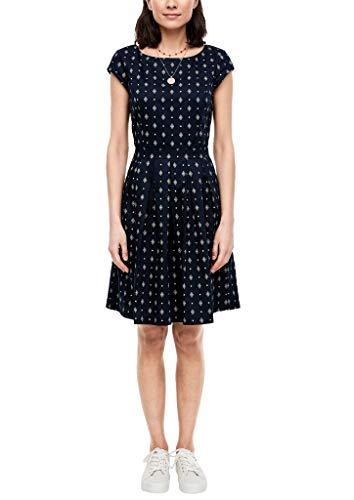 s.Oliver Damen 120.12.003.20.200.2027866 Kleid für besondere Anlässe, Navy AOP, 38
