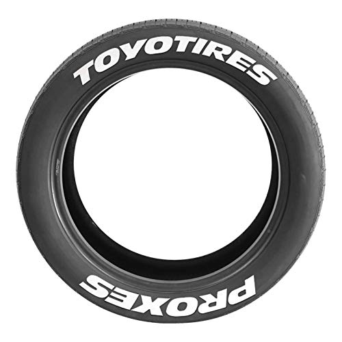 Luckxing Reifenbeschriftung Reifen Aufkleber Gummi Tire Tyre Sticker Set, 8X Reifensticker Wasserdicht Reifenaufkleber Set Reifenbeschriftung Aufkleber Universal Für Automative Motorrad