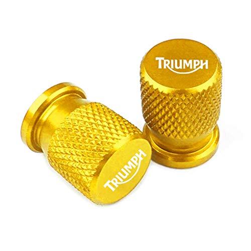 2 Piezas Tapas Válvulas para Neumáticos Motocicleta para Triumph Daytona 675 Speed Triple 1050 Street 800, Aluminio Prueba de Polvo Cubierta con Anillo de Sellado
