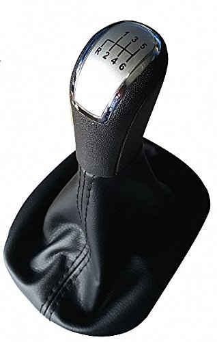 Neox – Schaltknauf Schaltknopf silber Schaltsack Schaltmanschette schwarze Naht