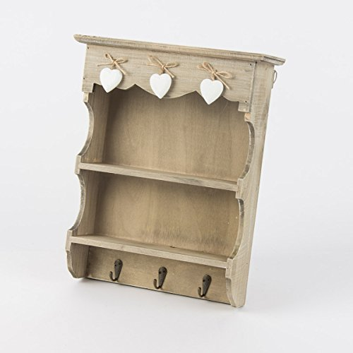 Sass & Belle Ashley Farmhouse Wall Display Unit With Hooks