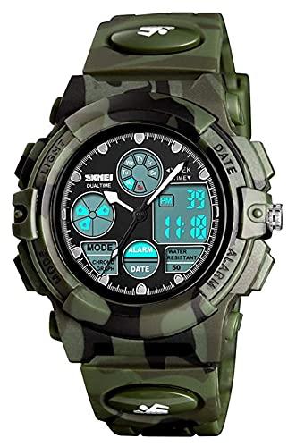 Relojes De Pulsera Relojes electrónicos adolescentes jóvenes con cronómetro de alarma, muchachas a prueba de agua Relojes al aire libre, relojes de deporte digital, niños Relojes de pulsera de cuarzo