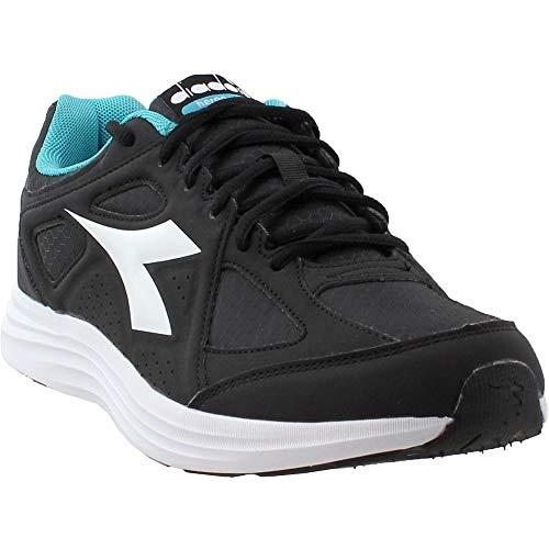 Diadora Womens Heron Win Running Sneakers Shoes - Black - Size 9 B