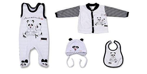Seruna Geschenk-Set Baby BY40 Gr. 68, Erst-Ausstattung mit Panda Säugling-e Babies Mädchen u. Junge-n Tauf-Geschenk