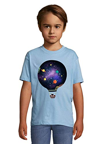 Luckyprint Astronaut Space Exploration Balloon Heaven Kids Colorful T-Shirt 2 Year Old