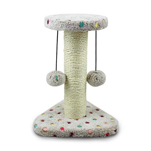 Nobleza - Katzenkratzbaum Kratzbaum mit Sisal für Kleine Katze Kletterturm für Kätzchen Kratzsäule Kletterbaum Spielturm mit Hängespielzeug für Katzen, Braun, 22 * 20 * 28 cm
