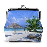 Monedero de Cambio Mujeres y Niñas Bolso del Cambio Monedero pequeño Silla de Palma de árbol de Coco de Playa