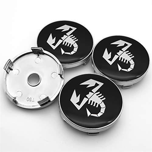 Without Radkörper Kappen Nabenkappen für Räder Scorpion Logo 4 stücke 56mm und 60mm Emblem Rad Center Hub Caps...
