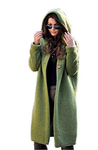 Lsecret Damen Strickjacke Mantel Wolle Mohair NEU 36 38 40 (Grün)