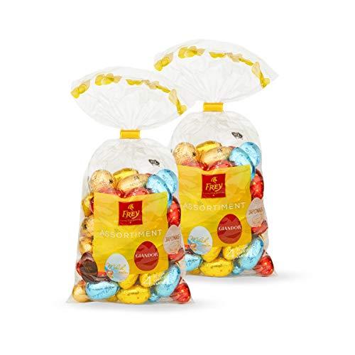 """Oeufs en chocolat Frey """"Eili Mix"""" 2 x 500 g - Sachets d'oeufs de Pâques fourrés - Chocolat suisse certifié UTZ - Chocolat de Pâques, cadeau de Pâques, cadeau de chocolat, décoration de Pâques"""