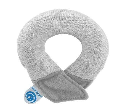 Medibino® | Medizinisch Patentiertes Babykissen gegen Plattkopf, Kopfverformungen und Flachkopf | SWEAT GRAU