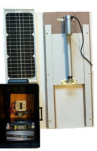 Barnett Agriculture Automatic Chicken Coop Solar Powered Door Opener with Door, Deluxe Model