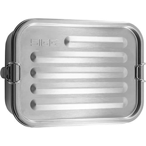 SIGG Gemstone Box Selenite Brotdose, auslaufsichere Lunchbox für Büro, Schule und Outdoor, Brotbox aus hochwertigem 18/8 Edelstahl für unterwegs