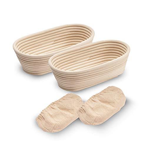 Cesta ovalada de 10 pulgadas, para hacer pan, apta para profesionales y panaderías caseras, wowaTech.