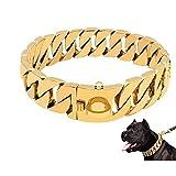 Cadena de perros Collar de mascotas Collar de 30 mm Ancho de acero inoxidable Cadena de perro Cuello Mascotas Suministros para mascotas para Bull Dog Bull Terrier Rottweiler Saint Bernard Bully Dog