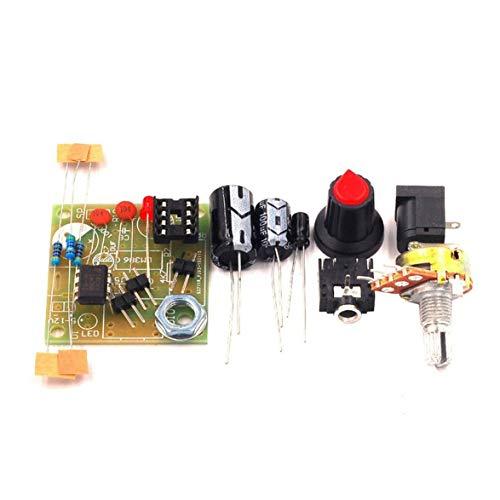 Sylvialuca Kit de Traje de Placa de Amplificador de Potencia Kit de Bricolaje electrónico Módulo de amplificación de Audio Bajo Consumo LM386 3V-12V