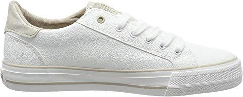 Mustang Damen 1313-303-14 Sneaker, Weiß (Weiß/Beige 14), 42 EU