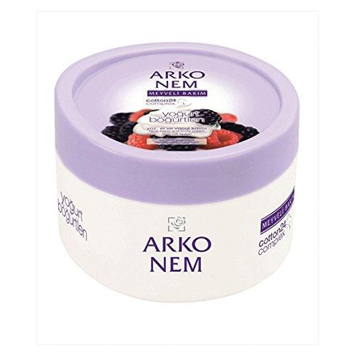 Arko Nem yoghurt and blackberry cream, face, hand and body cream 300 ml
