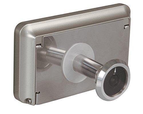 Amig 21139 Digitaler Türspion, silber, Espesor puerta: 40-70 mm. Agujero de la Mirilla: 14-30 mm