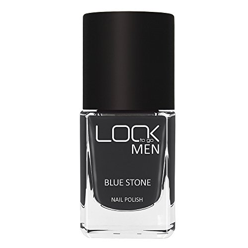 Look to go Nagellack NP 021 M Blue Stone I Nail Polish for Men I Männlich & Markant I dunkelgrauer Farblack mit intensiver Deckkraft (1 x 12ml)