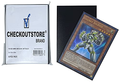 CheckOutStore 10,000 Matte Black Protective Sleeves Yu-Gi-Oh, Cardfight Vanguard (62 x 89 mm)