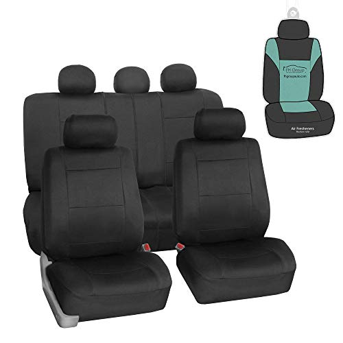 FH Group FB083115 Neoprene Seat Covers (Black) Full Set with Gift – Universal Fit for Cars Trucks and SUVs