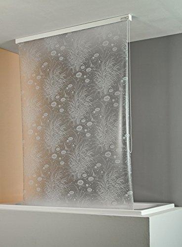 ECO-DuR 4024879000318 Kassetten Duschrollo 134 cm weiß - Seerosen weiß