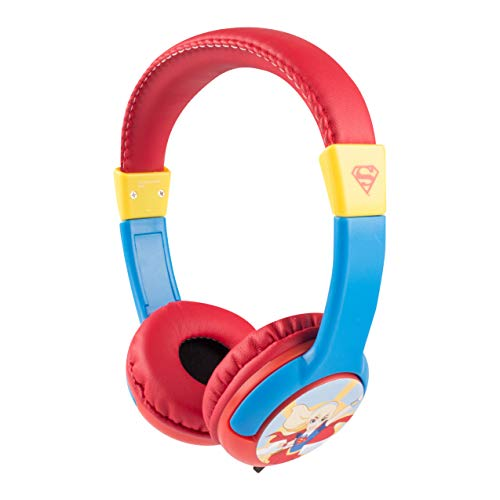 Super Hero Girls Kids Safe Over The Ear Headphones HP2-09393C | Kids Headphones, Volume Limiter for Developing Ears, 3.5MM Stereo Jack, Recommended for Ages 3-9, by Sakar