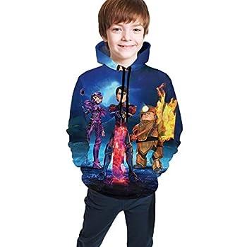 Tiandonf Troll-Hunters 3D Cool Graphic Costume Sweatshirt Hoodies for Kids Boys Girls Teens Black