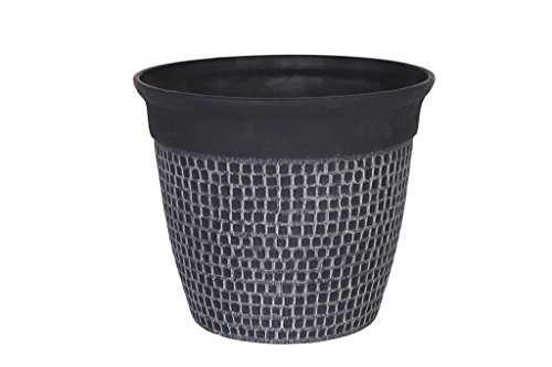 Cera-Mix Pot de Fleurs, Bac à Plante Roca, résistant au Gel et ultraléger, Noir, 41x35cm