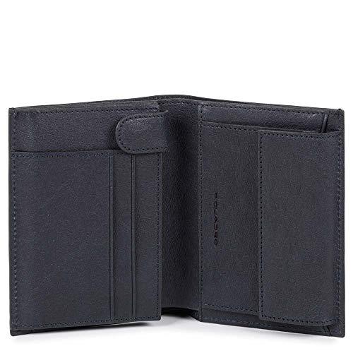 Piquadro Black Square Wallet Vertical Nero