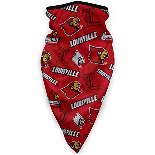 Fremont Die Louisville Cardinals Microfiber Neck Warmer,Face Bandanas,Neck Gaiter,Balaclava,Variety Head Scarf,Lightweight Breathable,Outdoor/Fishing/Running/Cycling