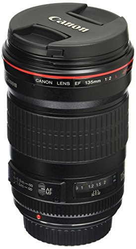 Canon EF 135mm f/2L USM Lens for Canon SLR Cameras - Fixed, Black - 2520A004