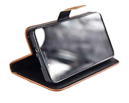 caseroxx Handy Hülle Tasche kompatibel mit Medion Life X5001 MD98499 Bookstyle-Hülle Wallet Hülle in braun