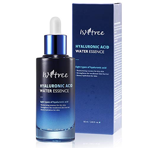 ISNTREE Hyaluronic Acid Deep Hydrating Face Water Essence 1.69 Fl Oz | Facial Serum for Dry, Acne, Sensitive Skin | Hydrating Scentless Essence Serum | Korean Skin Care
