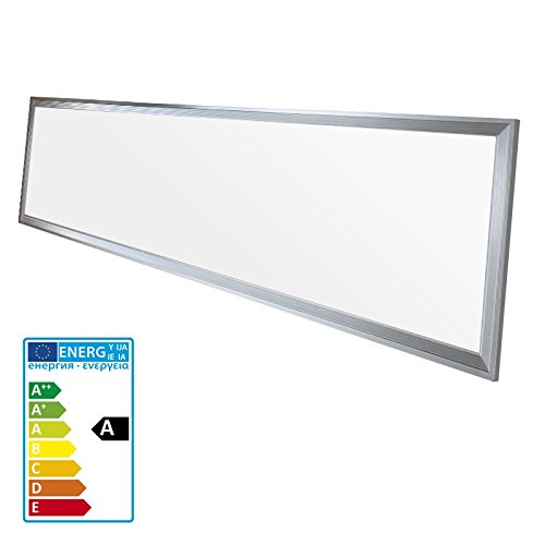ECD Germany 1-er Pack LED Panel Deckenleuchte 42W - 120 x 30 cm - Ultraslim Dünn - SMD 3014 - Neutralweiß 4000K - 220-240 V - ca. 2831 Lumen - Deckenlampe Einbauleuchte Pendelleuchte Lampe Leuchte
