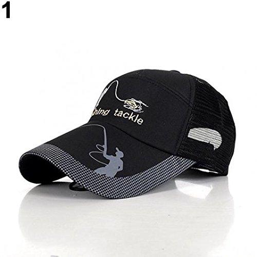 Kaarifirefly Outdoor moda uomo Cappello da sole berretto originale protezione attrezzatura da pesca, Nero