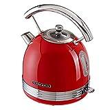 Schneider Wasserkocher SL W2 FR, rot, 1,7 Liter