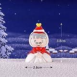 ZXZMONG Deko Skulpturen Statue Figur,1 Stück Mini Weihnachtsdekoration Miniatur Weihnachtsmann Schneemann Hirsch Fee Miniaturen Figuren Harz Dekoration-P