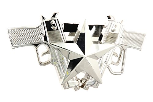 Chrome Guns Star Lighter Holder Belt Buckle